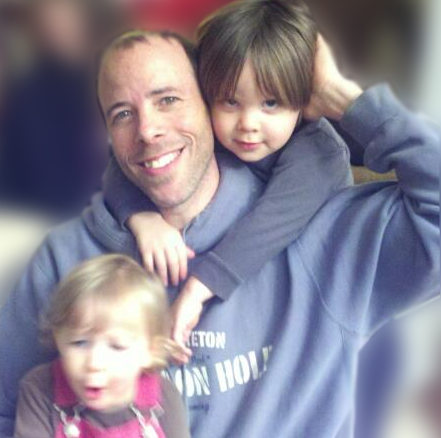 Kevin Turner with his children