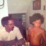 Pop and Me as kid